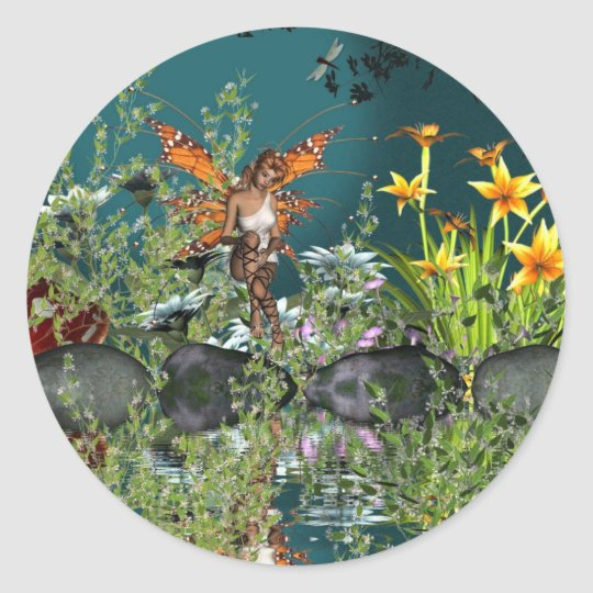 fariy pond classic round sticker