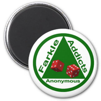 Farkle Addicts Anonymous 2 Inch Round Magnet