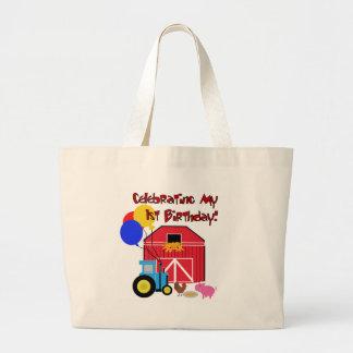 Farm 1st Birthday Jumbo Tote Bag