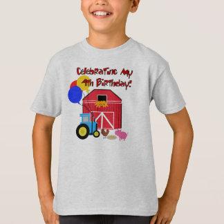 Farm 4th Birthday T-Shirt