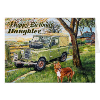"""FARM"" 4x4 vehicle Daughters Birthday Card"