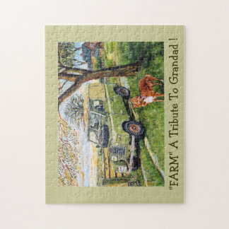 """FARM"" A Tribute To Grandad ! Jigsaw Puzzle"