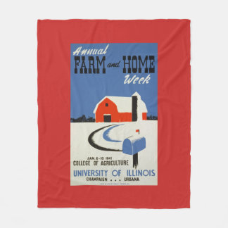 Farm and Home Week WPA Poster Fleece Blanket