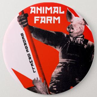 Farm animal 6 inch round button