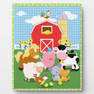 Farm Animal Art Easel Photo Plaques