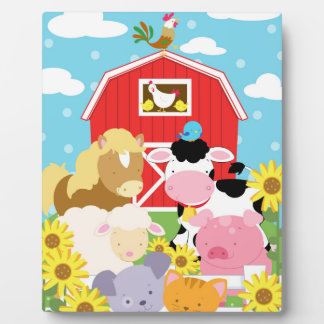 Farm Animal Baby Art Easel Plaque