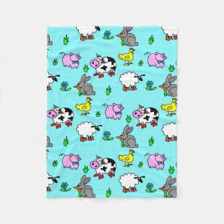 Farm Animal Fleece Blanket