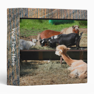 Farm Animal Friends 3 Ring Binder