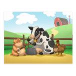 Farm Animal Jug Band Postcard