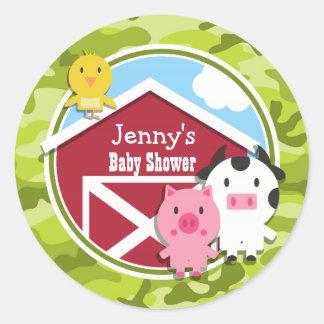 Farm Animals bright green camo camouflage Sticker