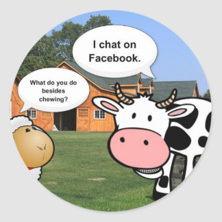 Farm animals cute cartoon funny facebook chat sticker