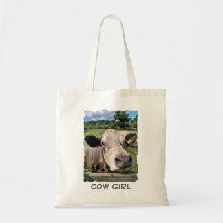 FARM ANIMALS, CUTE COW TOTE BAG