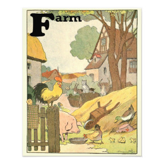 Farm Animals Illustrated Alphabet Photo Print