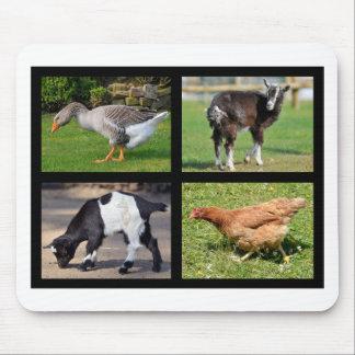 Farm animals mosaic mouse pad
