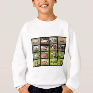 Farm animals mosaic sweatshirt