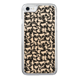 Farm Animals Pattern Carved iPhone 8/7 Case