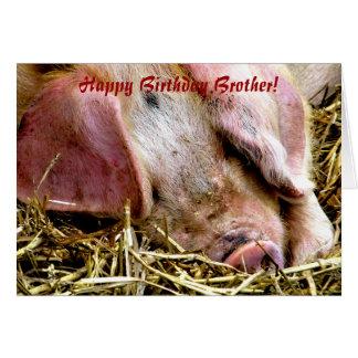 FARM ANIMALS, PIGS CARD