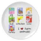 Farm Animals Plate
