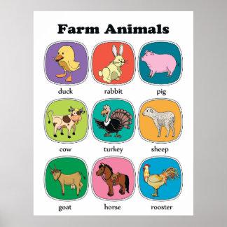 Farm Animals Poster