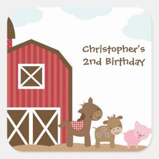 Farm Animals Stickers Square Sticker