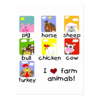 Farm Animals Tshirts and Gifts Postcard