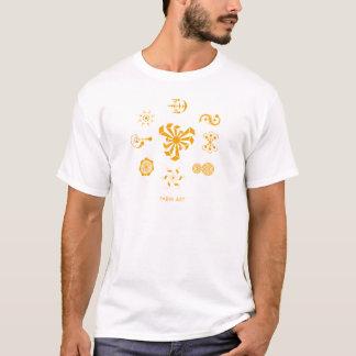 Farm Art Crop Circle T-Shirt - Orange