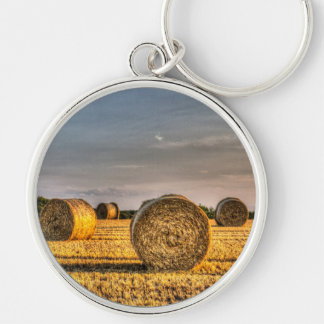 Farm Bales Key Chain