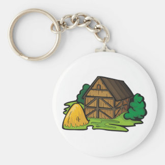 Farm Barn Keychain