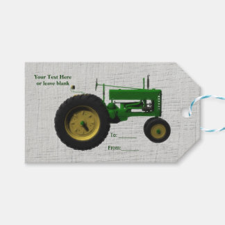 Farm Barnyard Tractor Rustic Country White Wood Pack Of Gift Tags