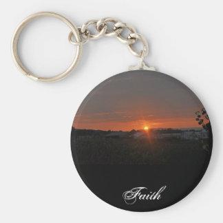 Farm Basic Round Button Keychain