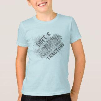 Farm boy, dirt & tractors, tire track t-shirt