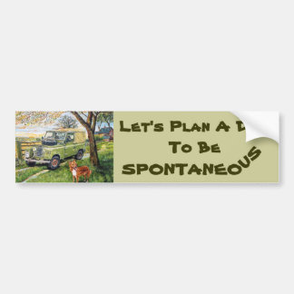 """Farm"" Bumper Sticker with Let's Plan A..."