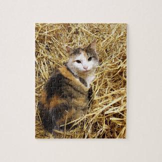 Farm Cat Jigsaw Puzzle