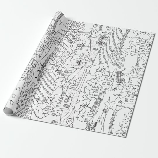 Farm Country Ready to Colour Wrapping Paper