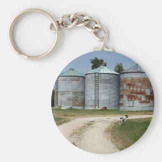 Farm Dog Silos Keychain