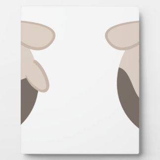 farm emojis - cow plaque