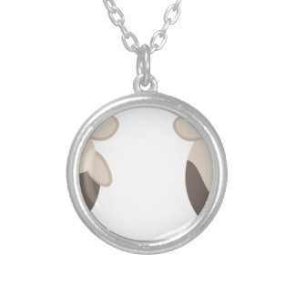 farm emojis - cow silver plated necklace