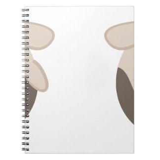 farm emojis - cow spiral notebook