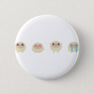 farm emojis - lamb 2 inch round button