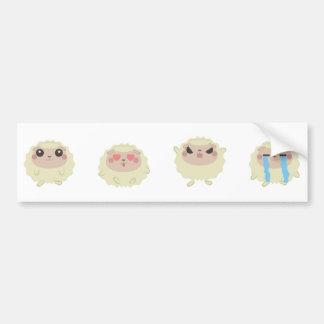 farm emojis - lamb bumper sticker