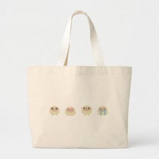farm emojis - lamb large tote bag