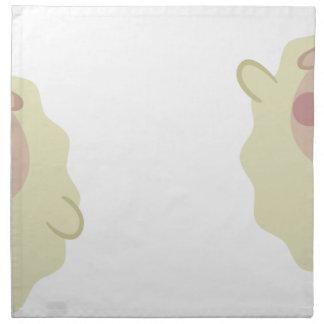 farm emojis - lamb napkin