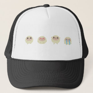 farm emojis - lamb trucker hat