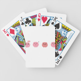 farm emojis - pig bicycle playing cards