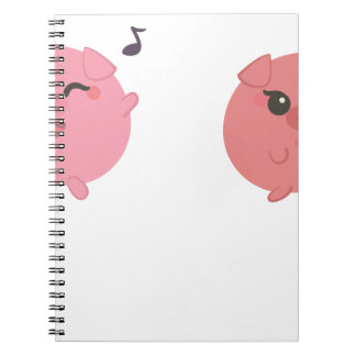 farm emojis - pig notebook