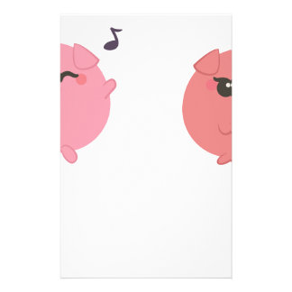 farm emojis - pig stationery
