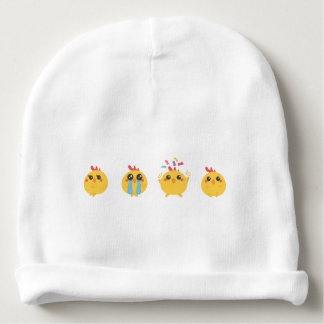 farm emojis - they chicken baby beanie