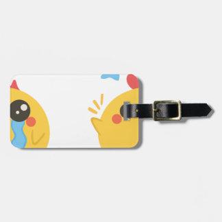 farm emojis - they chicken luggage tag