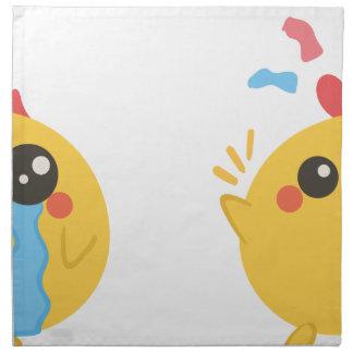 farm emojis - they chicken napkin