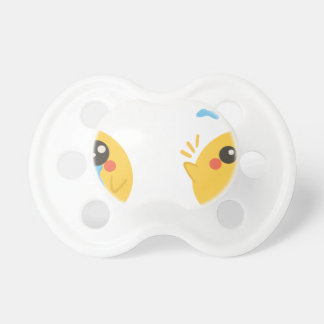 farm emojis - they chicken pacifier